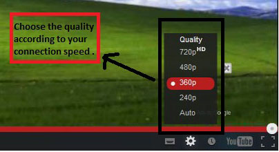 youtube quality option